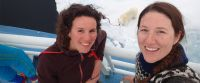 Caption: Two women scientists, Amelie Meyer and Allison Bailey, at Norwegian N-ICE2015 expedition in the Arctic. Credit: WMO