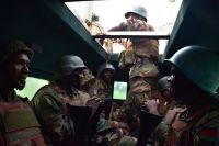 North Kivu province, DR Congo: Malawian soldiers of the Force Intervention Brigade on patrol between the localities of Oicha and Erengeti, in Beni territory. Photo MONUSCO/Anne Herrmann