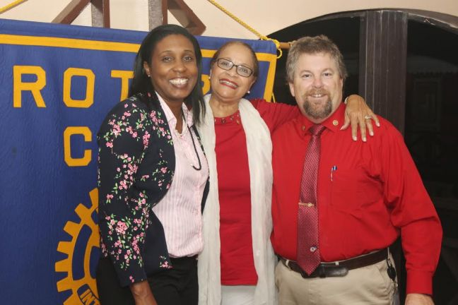 President Veronica Jansen-Webster, Rotarian Millicent De Wever and Rotarian Brian Greene. (Photo contributed)