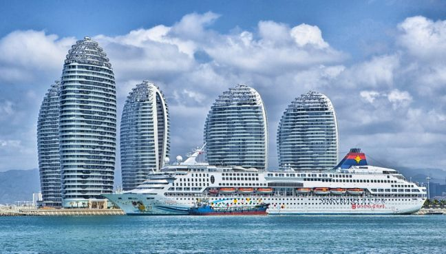 Hainan China Skyline.