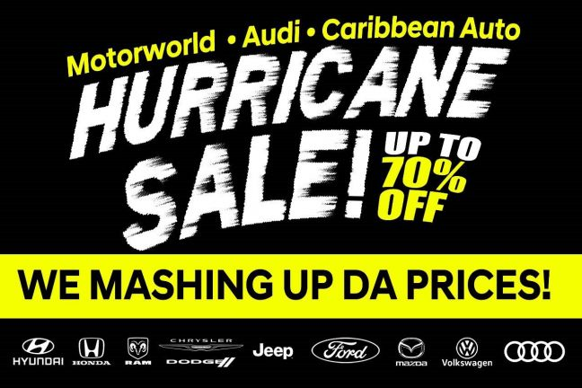 MOTORWORLD GROUP HURRICANE CAR SALE OFFERS ONCE IN A LIFETIME DEALS UP TO 70% DISCOUNTS ON ALL BRANDS