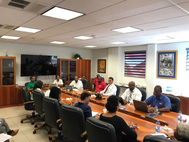 TelEm Group's Hurricane Committee met in joint session with the Management Group Monday morning for the latest on Hurricane Irma.