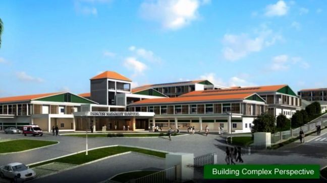 Dominica's new National Hospital as depicted in this artist impression.