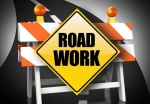 Paint works on Sucker Garden Road and Belair Road Patch Work on Tuesday