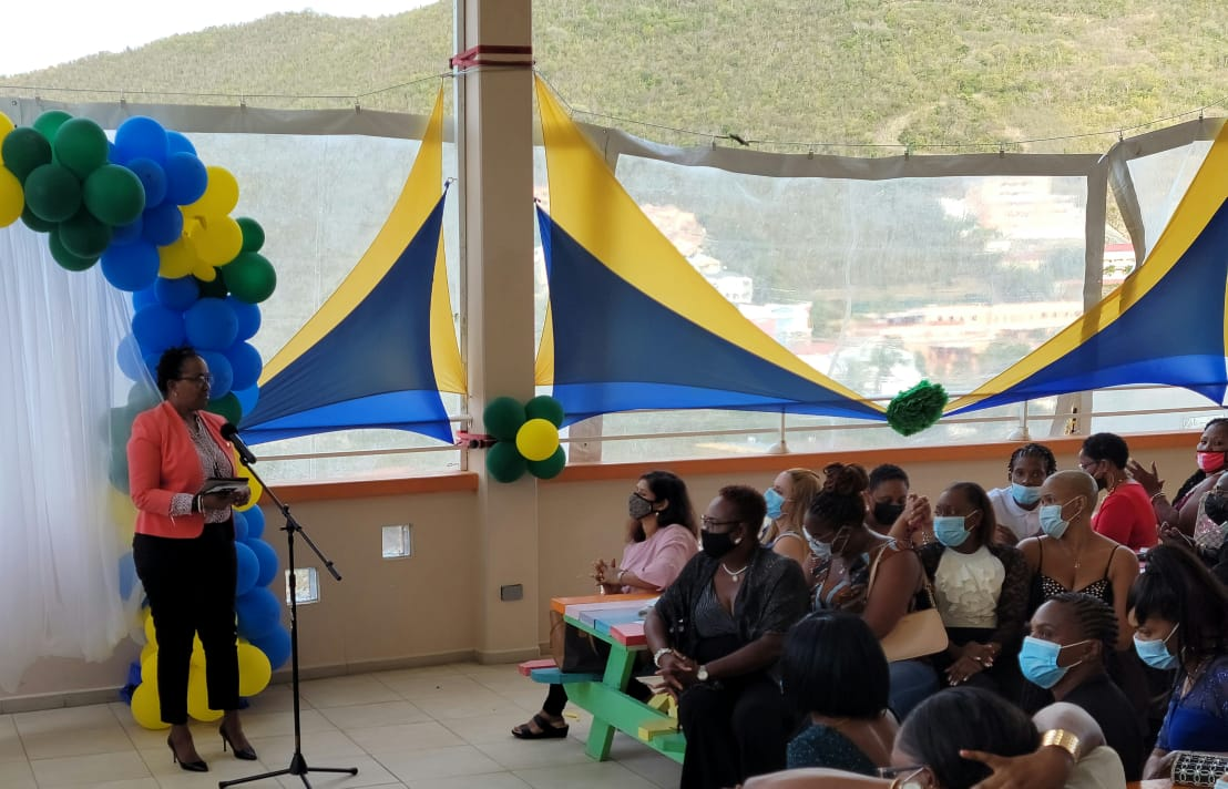 Prime Minister Jacobs addressing the graduates