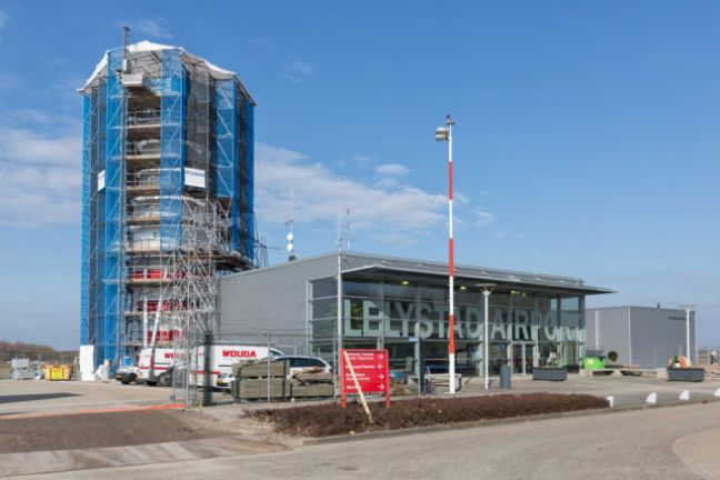 Work on building the new air traffic control tower. Photo: Depositphotos