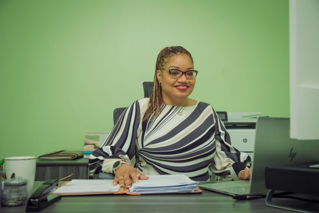 Interim Director of Postal Services Sint Maarten (PSS) Marinka Gumbs