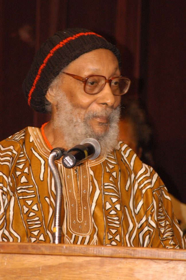 Kamau Brathwaite, author of Liviticus, the new poetry collection. (Credit HNP photo)