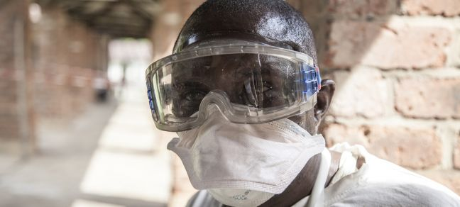 UNICEF/Naftalin An Ebola health worker at Bikoro Hospital, Democratic Republic of the Congo