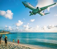 American Airlines landing at SXM Airport. (file photo/contributed)