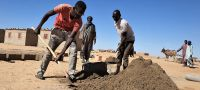 UNOCHA/Eve Sabbagh The UN refugee agency has launched cash-for-work programmes which employ youth from host communities in Awaradi, Niger, to make bricks.