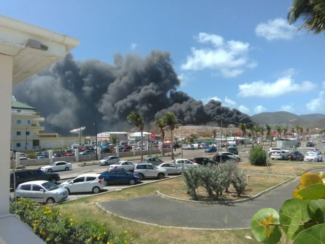 Pond Island Landfill. A recent fire related to tires that caught fire. (Photo contributed)