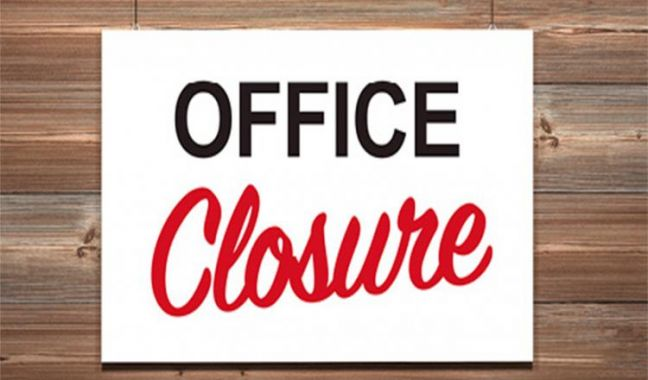Fire Dept. administrative offices closed until further notice