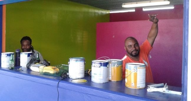 Booth holder Orlando Vanterpool says he is almost ready for one and all at his booth for Carnival 2015. (photo contributed)