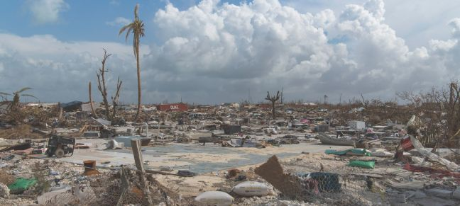 UN Photo/Mark Garten View of the mass destruction by Hurricane Dorian in Marsh Harbour, Abaco Island in the Bahamas. (11 September 2019)