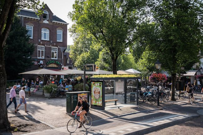 One of Utrecht's green roof bus stops. Photo: Mobilane