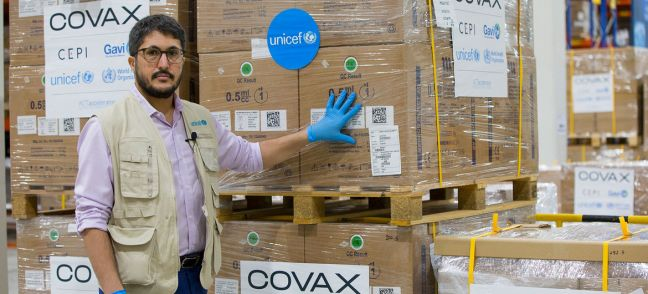 © UNICEF/Ruel Pableo UNICEF has begun shipping syringes for the global rollout of COVID-19 vaccines under COVAX.