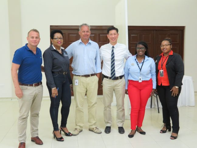 Johan Halvarsson - VP Resort Operations, Patricia Glasgow-Vlaun - HR Manager, Gerard Van Helvoort - Culinary Director Maho Group, Minister Emil Lee - Minister of Health, Social Development and Labour, Judencia Moses - HR Admin assistant, Katherine Moreno - HR Admin Assistant