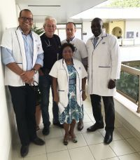 In photo (left to right): Dr. Juliana, Dr. Offringa, Dr. Morvan (centered), Dr. Tilanus, Dr. Holiday.