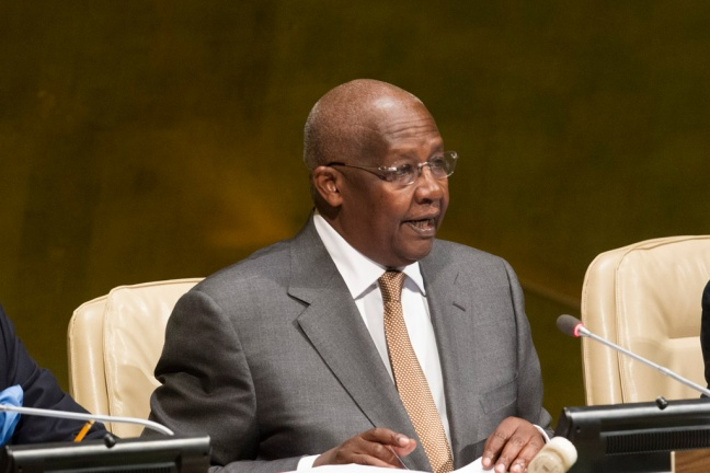 General Assembly President Sam Kutesa outlines his objectives for 2015. UN Photo/Loey Felipe