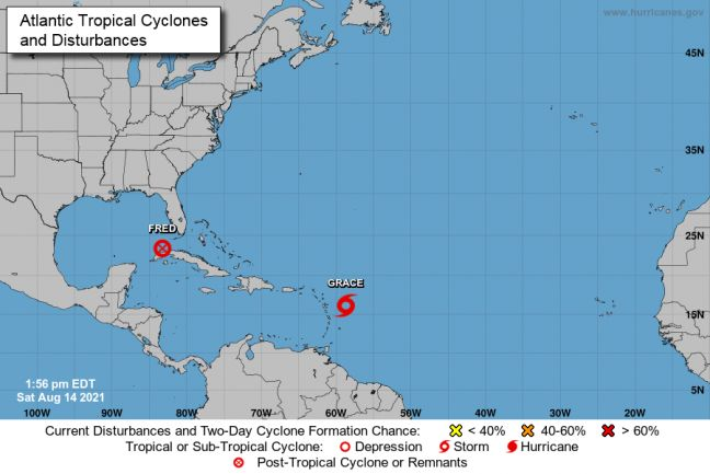 LATEST: Tropical Storm Grace to pass 100 miles from Sint Maarten. Heavy Rainfall Expected. Country Under a Tropical Storm Warning