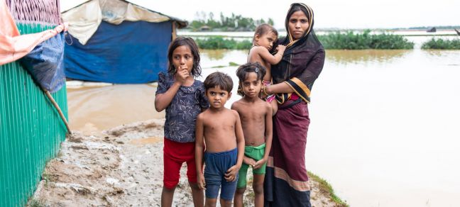 WFP/Nihab Rahman The UN World Food Programme launched its biggest rapid food response following heavy rains and flash flooding in the Cox's Bazar refugee camps and host communities.