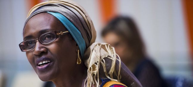 UN Photo/Amanda Voisard Winne Byanyima pictured at a UN event on Women's Economic Empowerment.