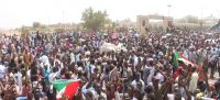 Ahmed Bahhar/Masarib Protesters take to streets in the Sudanese capital, Khartoum. 11 April 2019.