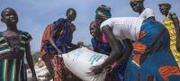 WFP/Gabriela Vivacqua Food distribution in Pieri, South Sudan, where WFP is assisting 29,000 people, of whom 6,600 are children under-five. (5 February 2019)