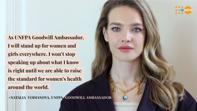 UNFPA Russian supermodel and philanthropist Natalia Vodianova has been appointed as Goodwill Ambassador for the United Nations sexual and reproductive health agency, UNFPA.