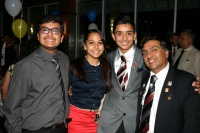 Interactors Ajay - Neha and Siddharth along with Rotarian Ramesh, the district coordinator for end polio campaign.