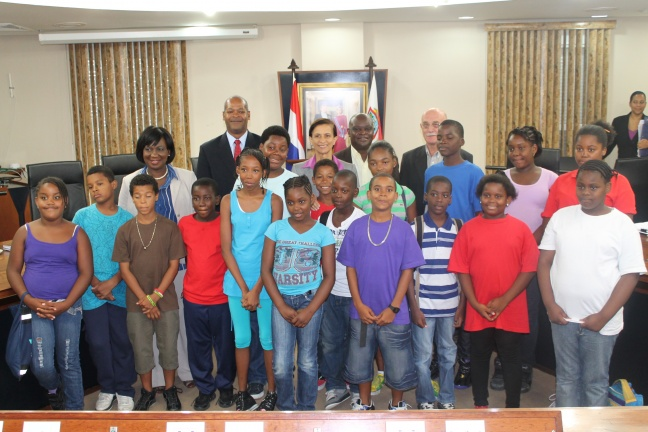 St. Peters Summer Camp Kids Visit Government Building
