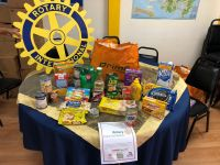 Rotarians Prepare Food Baskets for Holiday Meals