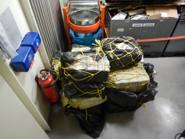 Confiscated drugs during the Caribbean Sea drug interdiction operation. (Photo Dutch Caribbean Coast Guard)