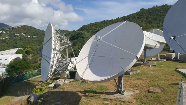 CableTV dishes located in Madame Estate (photo by Ricardo Benjamin)