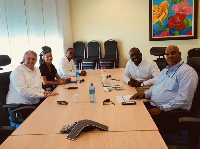 Port St. Maarten along with IT partners/software developer representatives on Monday met with Secretary General of the Ministry of Tourism, Economic Affairs, Transport and Telecommunications Miguel De Weever with respect to PCS.