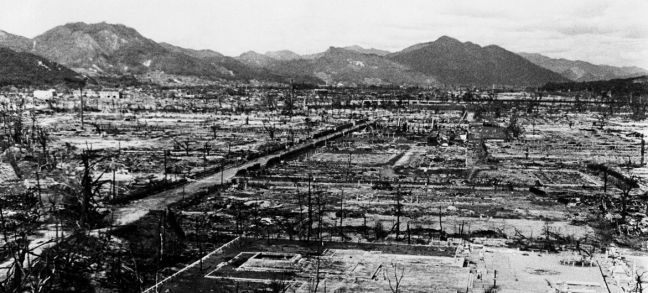 UN Photo/Eluchi Matsumoto There was widespread destruction in Hiroshima as a result of the nuclear bomb which was dropped on the Japanese city in August 1945.