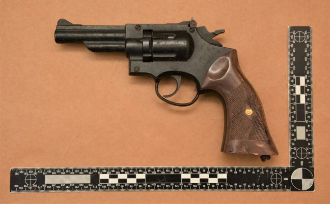 The confiscated weapon. (Police photo)