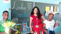 Loekie Morales during Children Book Week Curaçao.