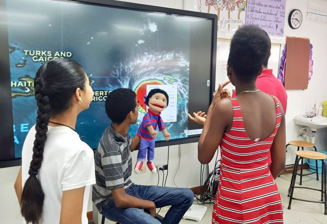 A video workshop and competition was hosted focusing on involving kids with hurricane preparations.