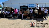 A photo of K1 Britannia volunteers along with Yogesh Commercial Complex representatives.