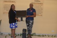 Ombudsman Gwendolien Mossel (L) and Malaika Richards (R).