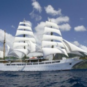 Sea Cloud II was in Port for Fuel and Food Provisioning on Thursday