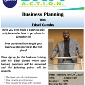 Business Plan Training hosted by SXM A.C.T.I.O.N and Qredits St. Maarten
