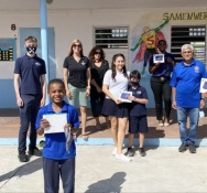 The Rotary Club of Sint Maarten's Interact Club of Learning Unlimited Donates Tablets to School Children in Need