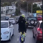 Reckless motorcyclist identified as 'Zazz', ordered to report to the Police Station