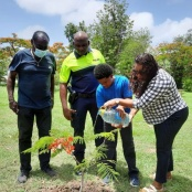 Tree planting ceremony held for the late Officer G. Benjamin