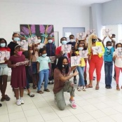 Fela! storybook presented to St. Martin children for Black History Month 2021