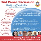 COVID-19 Vaccination Panel Discussion Set for Tuesday Evening. Get answers to your questions