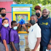 Rotary Sunset Launches Little Free Library At MLK